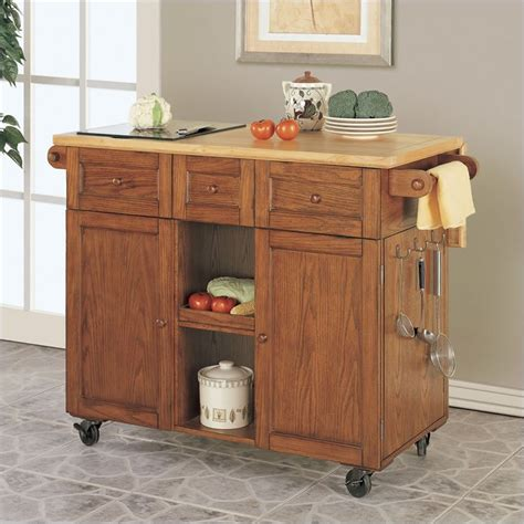 oak kitchen island cart kitchen carts kitchen islands kitchen utility cart at