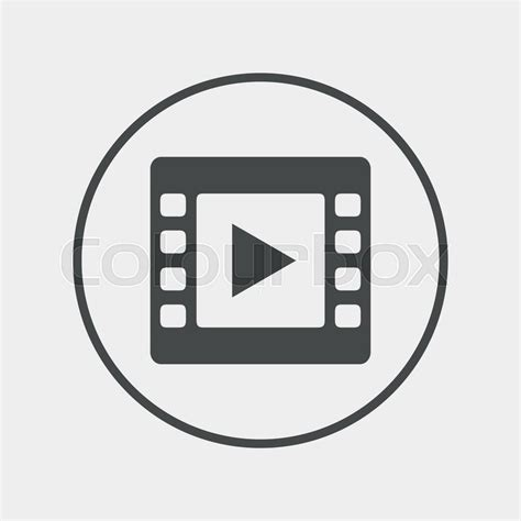 video layout icons video sign icon video frame symbol flat video icon