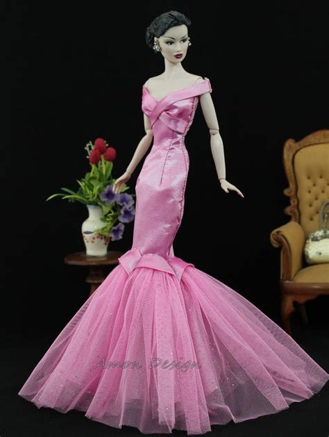 design clothes for barbie dolls amon design gown outfit dress fashion royalty silkstone