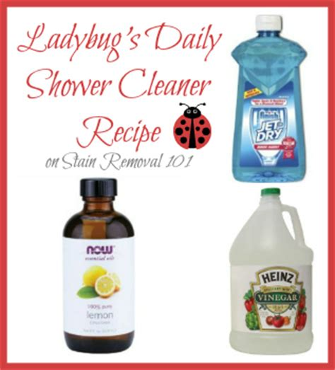 Shower Cleaner Recipe by Shower Cleaner Recipes For Daily Use Heavy Duty