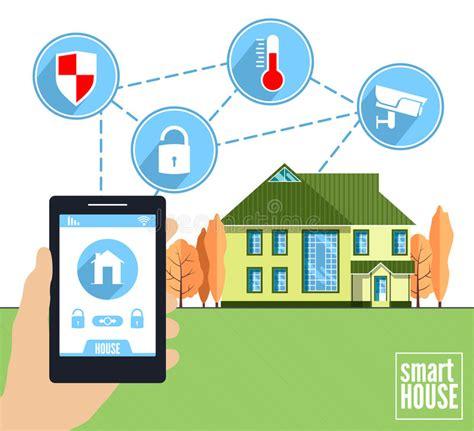 smart home vector concept stock vector image of digital