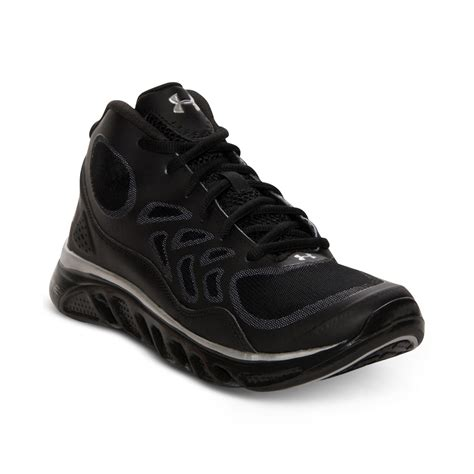 armour black sneakers armour gameday trainer sneakers in black for