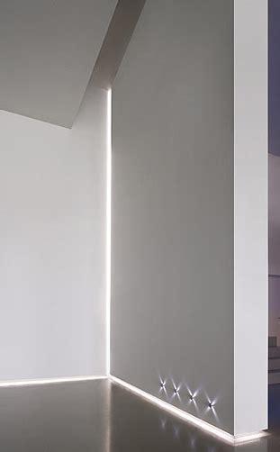 white interior design with delta light led profile