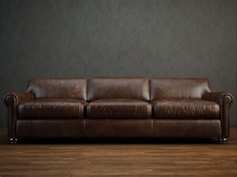 free leather couch 3 seater leather cushion couch 3d model 3dsmax files free
