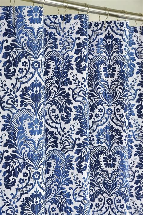 blue and white print curtains 72 x 84 long navy damask shower curtain extra long
