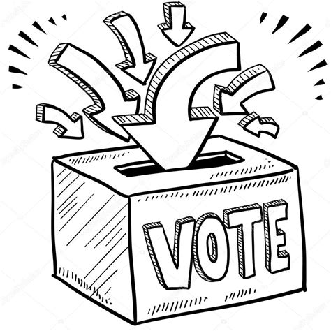 doodle democracy ballot box voting sketch stock vector 169 lhfgraphics