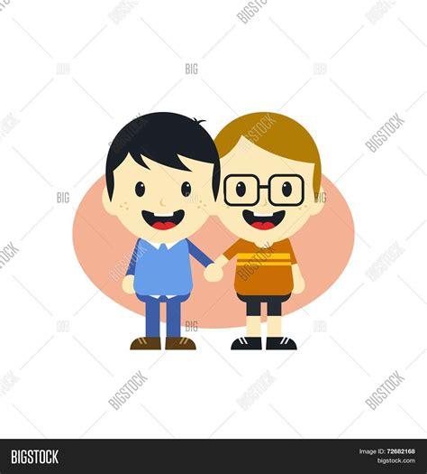 cartoon themes vector cute gay couple cartoon theme vector photo bigstock