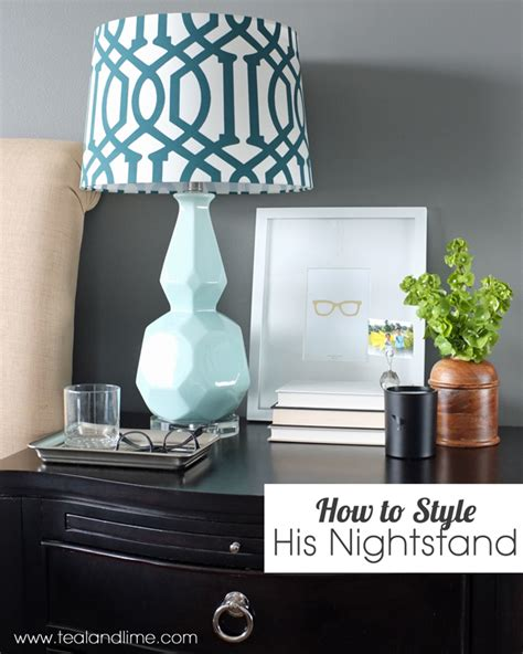How To Decorate A Nightstand how to decorate his nightstand teal and lime by jackie hernandez