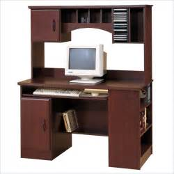 Park wood computer desk with hutch in cherry by south shore