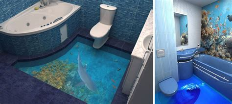 3d bathroom floors 3d floors turn your bathroom into an ocean bored panda