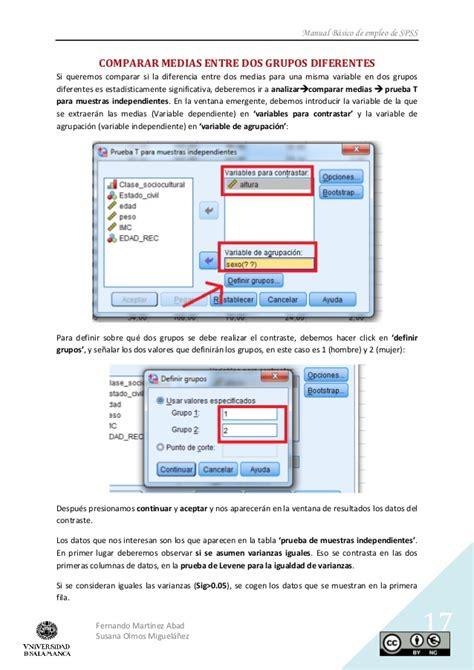 manual spss basico manual b 225 sico de empleo de spss