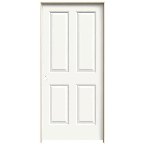 home depot white interior doors jeld wen 36 in x 80 in molded smooth 4 panel brilliant