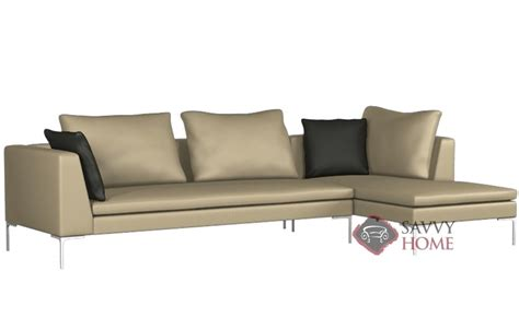lazar lounge sectional pesaro leather chaise sectional by lazar industries is