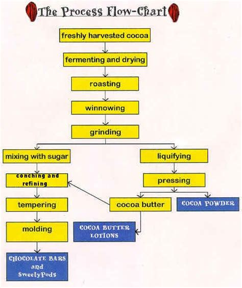 chocolate process flowchart cocoa chocolate ab agri business