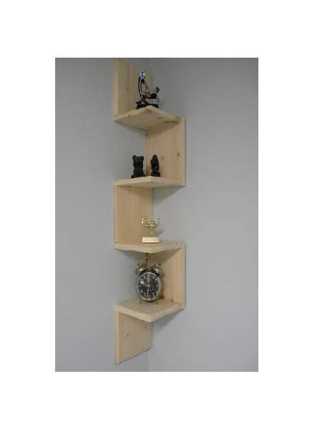 wall mounted corner shelf retro 4 tier zig zag shelf for