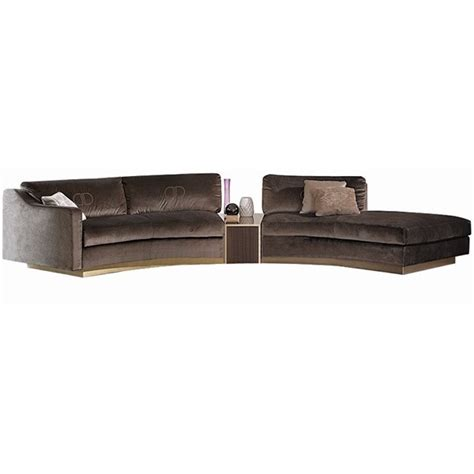 Touched D Upholstered Modular Curved Roxana Sofa With Curved Modular Sofa