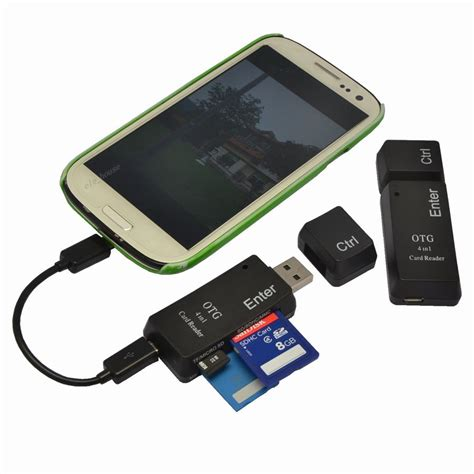 Usb Presenter 16ap High Quality 4 in 1 otg tf sd smart card reader adapter with micro usb charge port for phone ebay