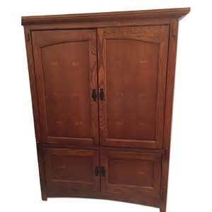 used bassett oak armoire tv cabinet for in nyc aptdeco