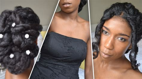 updos wedding black hairstylist in maryland classic prom and wedding updo natural hair youtube