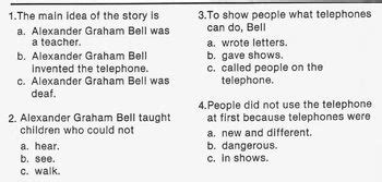 biography text multiple choice biography bank inventor alexander graham bell w 4