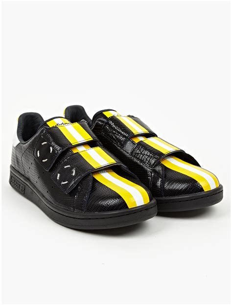 adidas by raf simons mens stan smith rs sneakers in yellow for black lyst