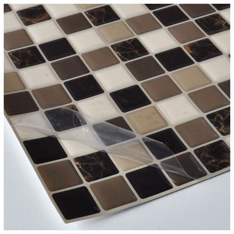 adhesive backsplash tiles for kitchen diy vinyl tile backsplash adhesive wall covering for kitchen bathroom 6 tiles 5 8 sq ft