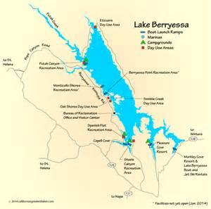 lake california map lake berryessa map