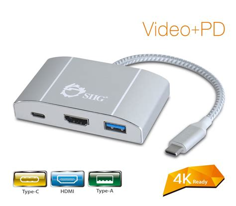 Adaptor 3 Usb Product 1 usb 3 1 type c hub with hdmi pd charging adapter 4k ready usb it products