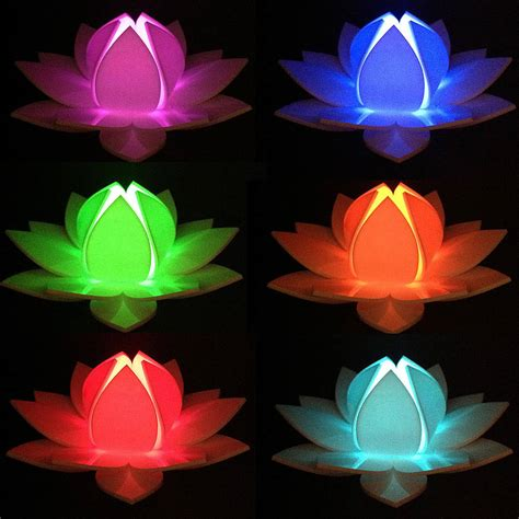 lotus led lotus flower colour changing led battery operated light by