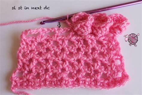 flower pattern edge crochet flower edging dearest debi patterns