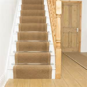 Rug Runners For Stairs Cheap by Aztec Beige Stair Carpet Runner For Narrow Staircase