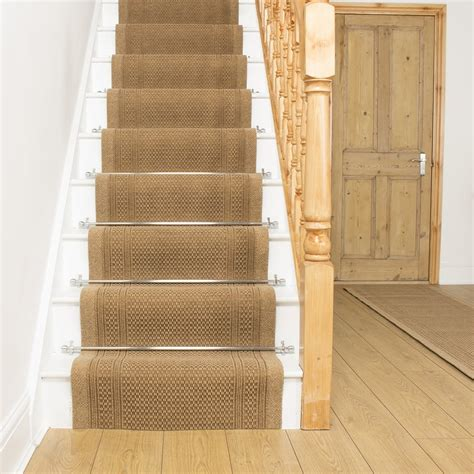aztec beige stair carpet runner for narrow staircase