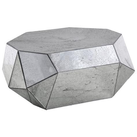 Coffee Table Silver Corbin Modern Classic Geometric Mirror Silver Coffee Table Kathy Kuo Home