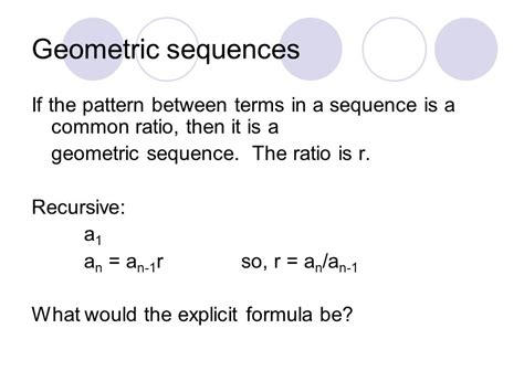 geometric number pattern formula geometric sequences common ratio ppt video online download