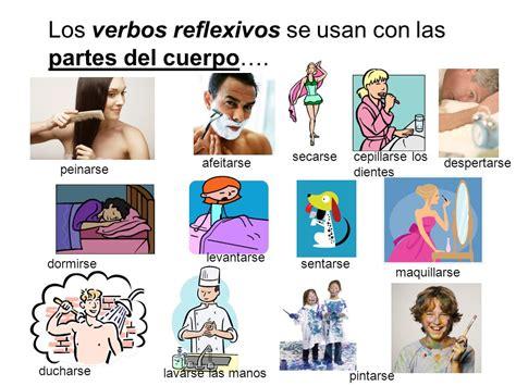 imagenes verbos reflexivos verbos reflexivos partes cuerpo graphic spanish