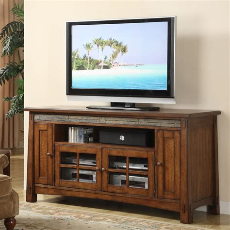 riverside craftsman home   tv console tall
