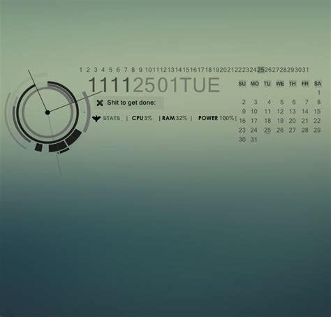 rainmeter themes clock sinister v 2 0 for rainmeter by natosaurus on deviantart