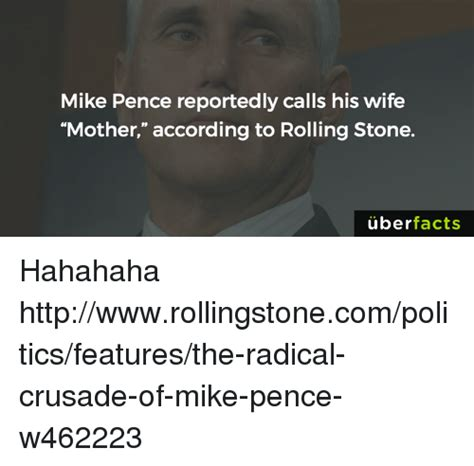 does mike pence call his wife quot mother quot a rolling stone search pence memes on me me
