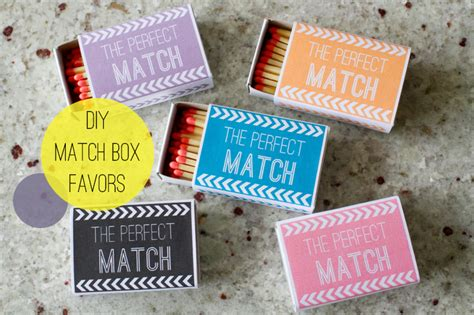 Wedding Box Of Matches Uk by Wedding Diy Match Box Favors With A Free