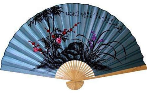 oriental fans wall decor soft blue poem asian wall fan asian home decor by
