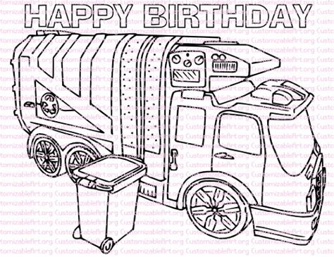 garbage trucks coloring page garbage truck birthday party printables garbage truck coloring