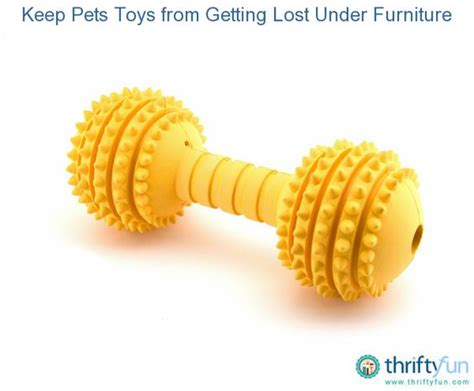 Keep Pet Toys From Getting Lost Under Furniture Cats