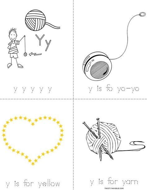 Letter Book Letter Y Book Twisty Noodle