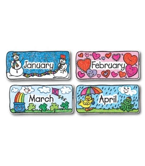 Calendar Headers Calendar Headers Kid Bulletin Board Set