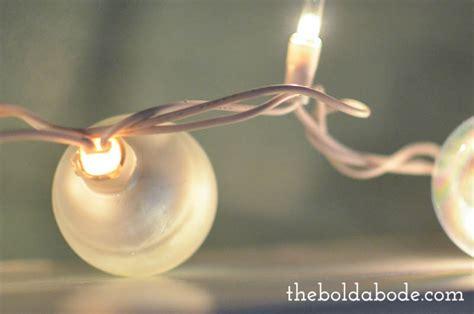 half string of lights out diy ornament string lights