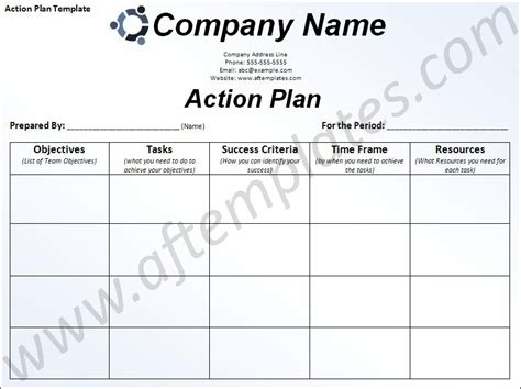 action plan template all free templates excel word