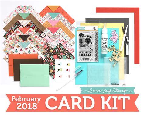card kit february 2018 card kit simon says st