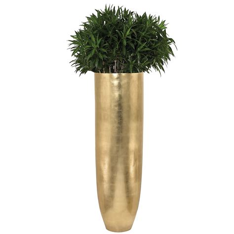 oversized oval gold leaf planter atzincdoor