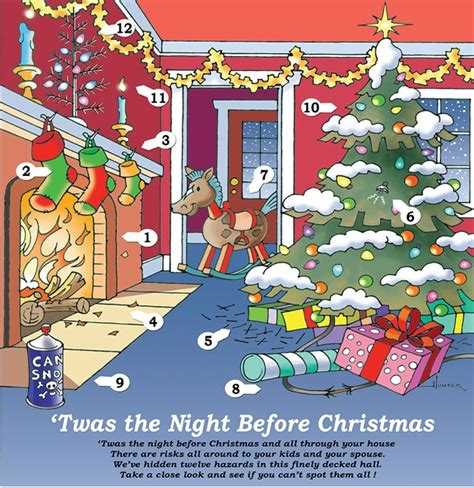 twas the night before christmas safety college of arts