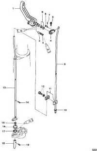 mercury marine 5 hp 2 stroke shift components parts